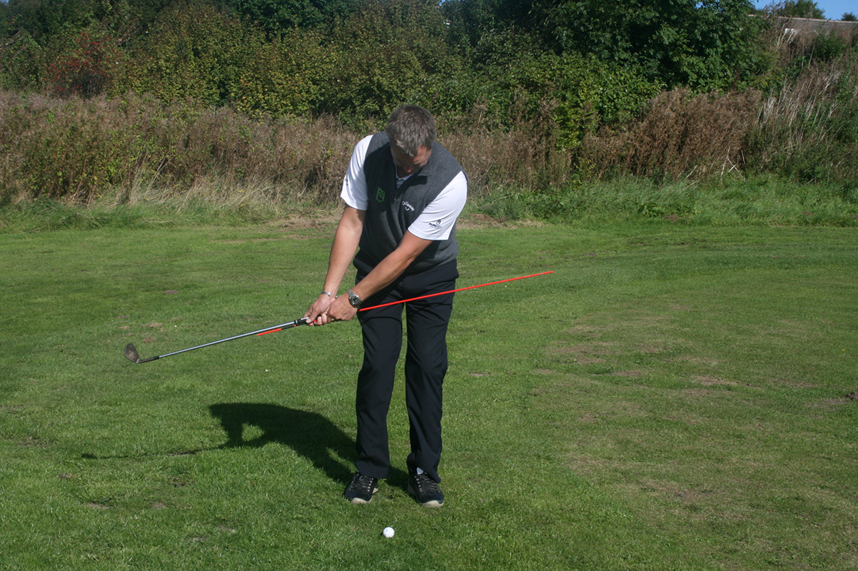 BackSwing (using an alignment stick to keep arms and wrist firm)